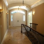 Entry looking to the front door. The stair leads to the basement