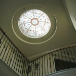 Entry skylight with art glass dome by John Joy