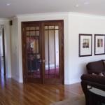 French doors into the Study from the family room