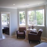 Bay window sitting area in the Master Suite