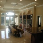 Formal Dining room with wetbar
