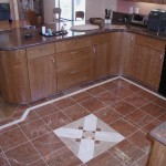 Kitchen floor. Modest homes can have nice finishes