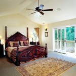 Master Bedroom with doors to balcony.