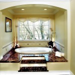 Master Bath tub is located in one of the front dormers.